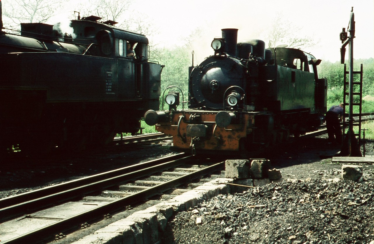 Lok 17 links und Lok 16 rechts in Kerkerbach