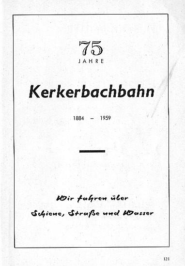 Werbung der KB in einer Festschrift des Turnvereins Schadeck