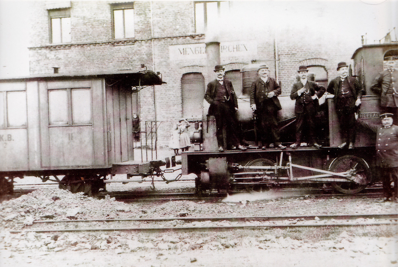 """Lok 2 """"Schupbach"""" in Jahre 1908 in Mengerskirchen"""