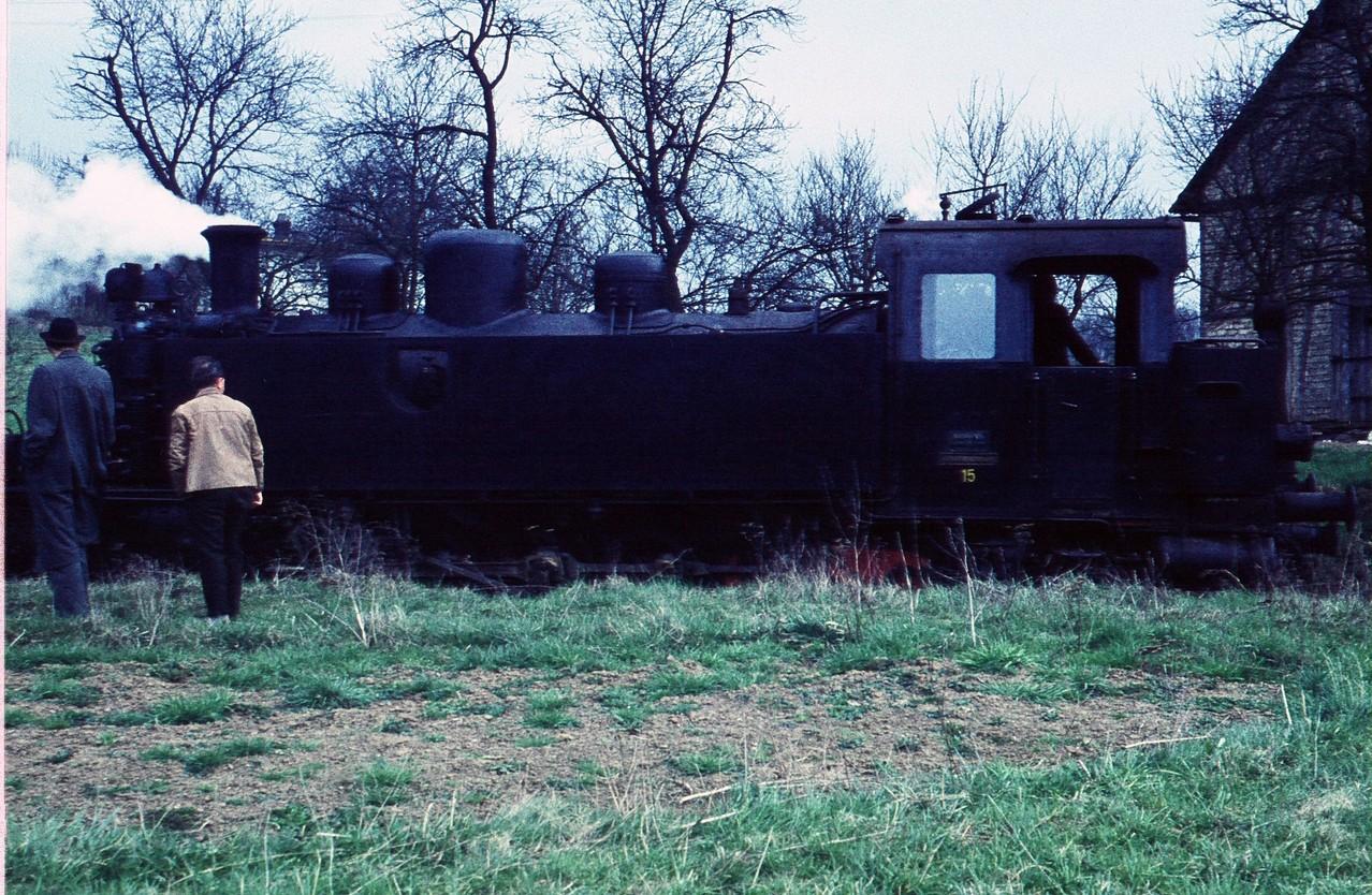 1961, die Letzten Bilder der Lok 15 mit dem Abbauzug