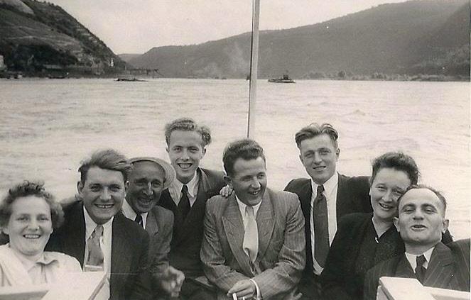 Auf dem Rhein, Mitte Rudi Noll, immer da, wo was los war