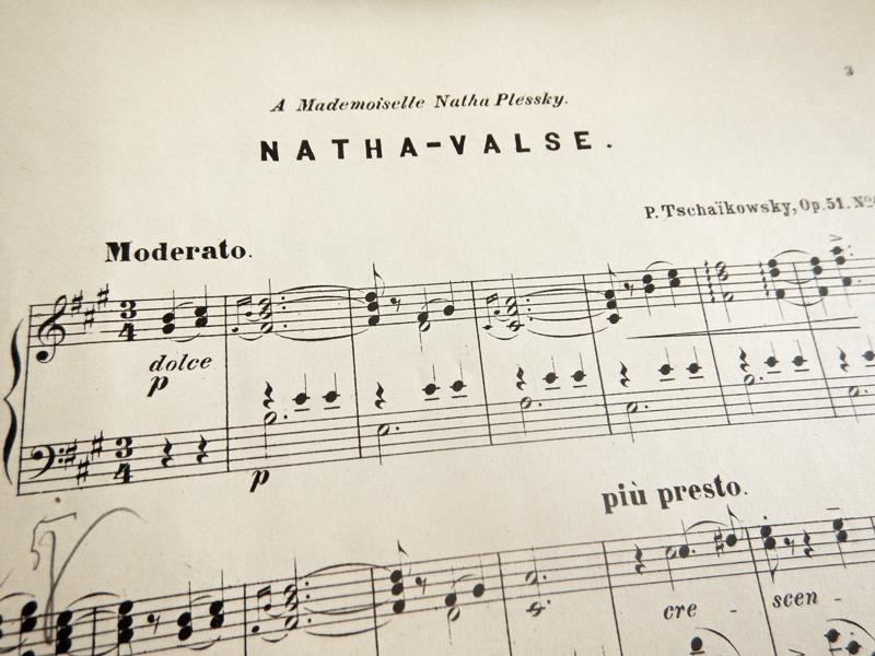 Ната-вальс, посвящается мадемуазель Плесской, Чайковский