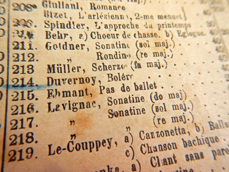 Фрагмент списка выпущенных пьес