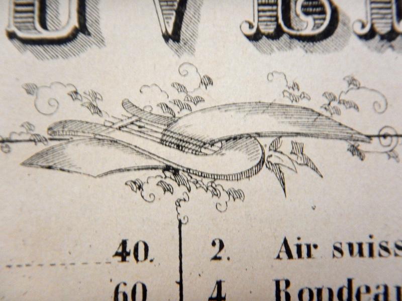 Лира и ноты, старинная гравюра