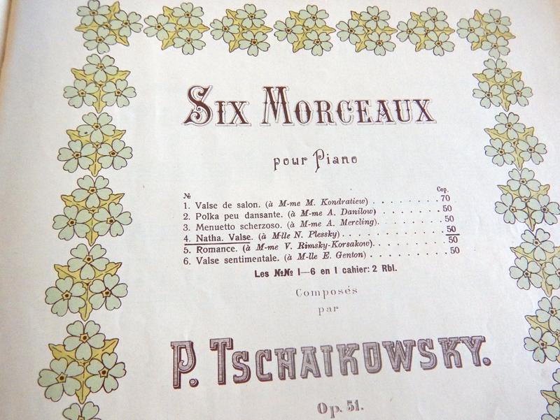Шесть пьес Чайковского опус 51