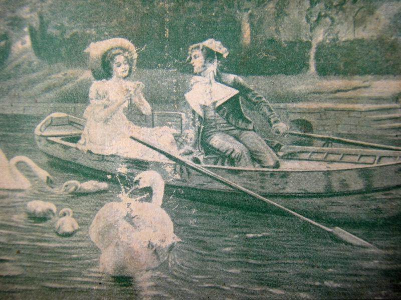 На тихом озере, рисунок на нотной обложке