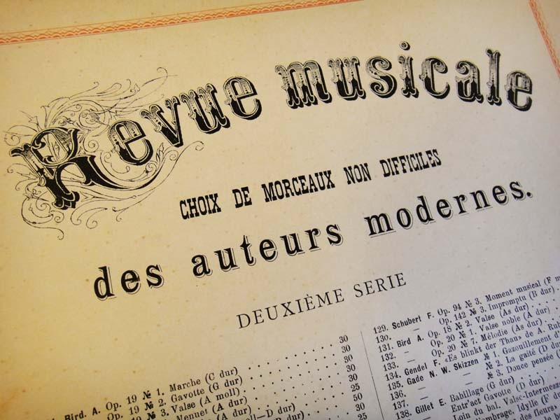 Музыкальное ревю издательства Бессель