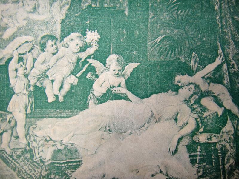В царстве грёз, рисунок на нотной обложке