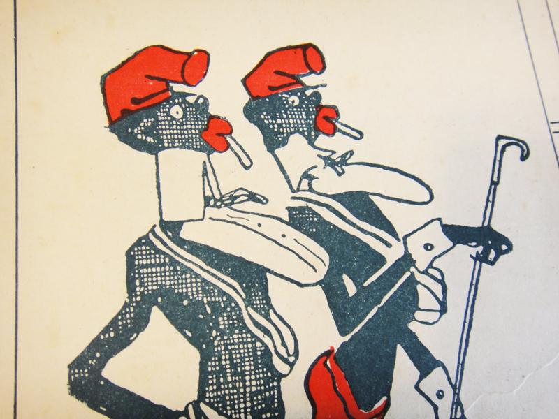 Комичные негры-афроамериканцы, рисунок, Санкт-Петербург, 1908, старинные ноты для фортепиано