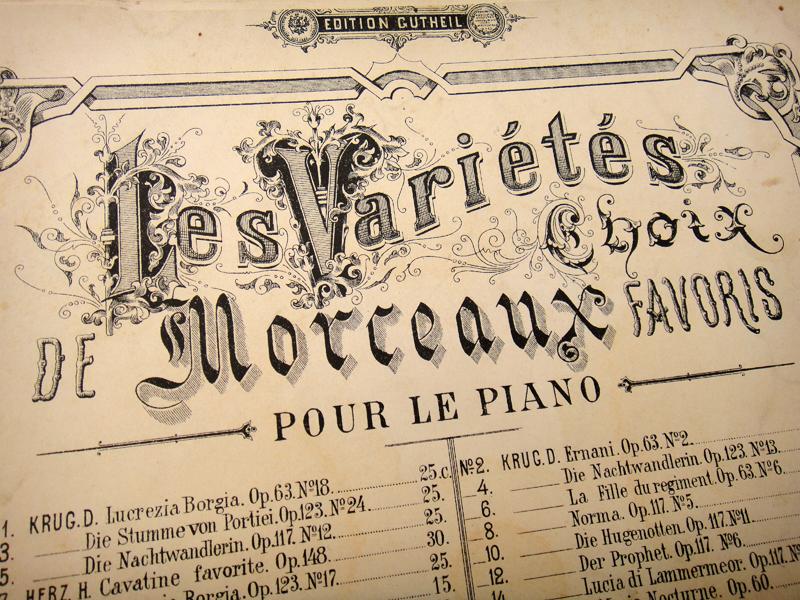 Фрагмент нотной обложки издания А. Гутхейль