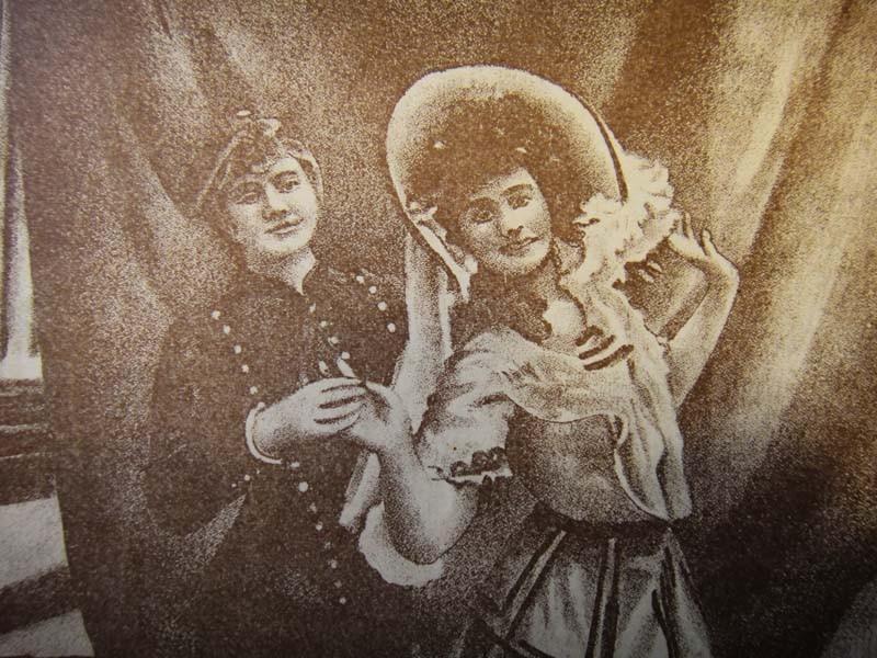 Парижская танцевальная пара Derminy-Morly, впервые исполнившая матчиш в 1902 году