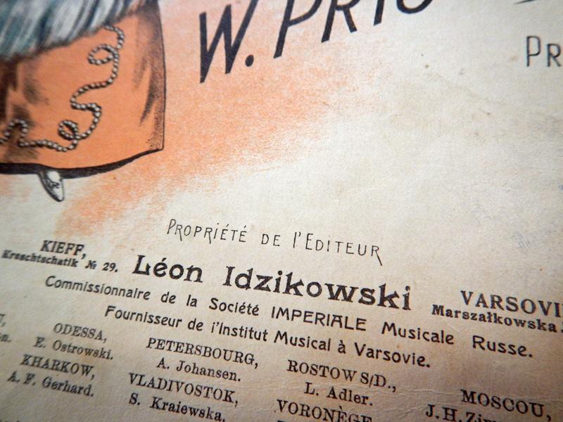 Леон Идзиковский, комиссионер Императорского русского музыкального общества в Киеве и Варшаве