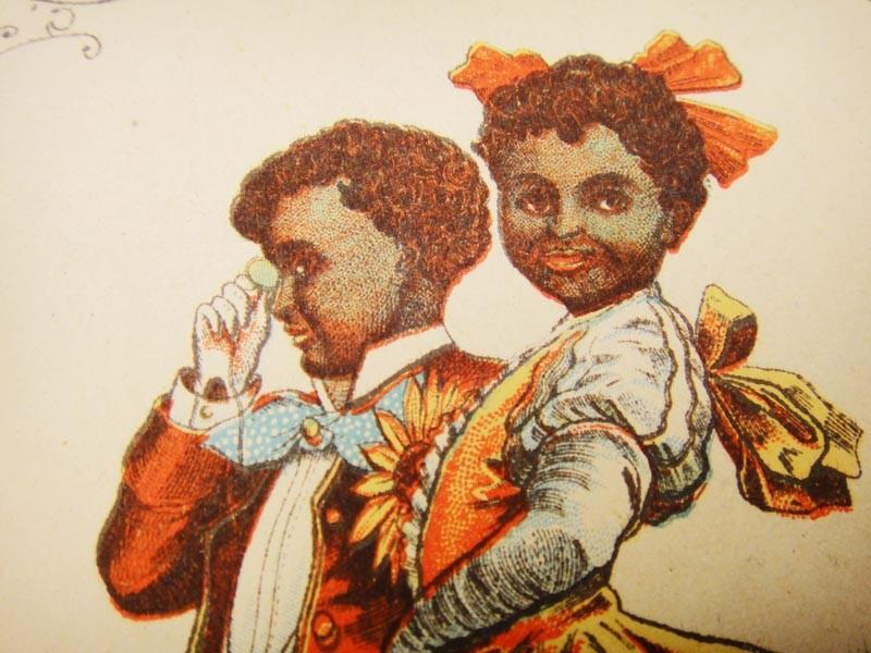Комичная пара негритят - танцоров кекуока