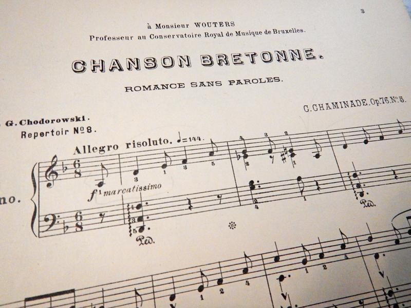 Бретонская песня (без слов), Шаминад