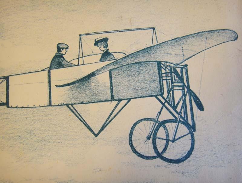 Аэроплан на нотной обложке