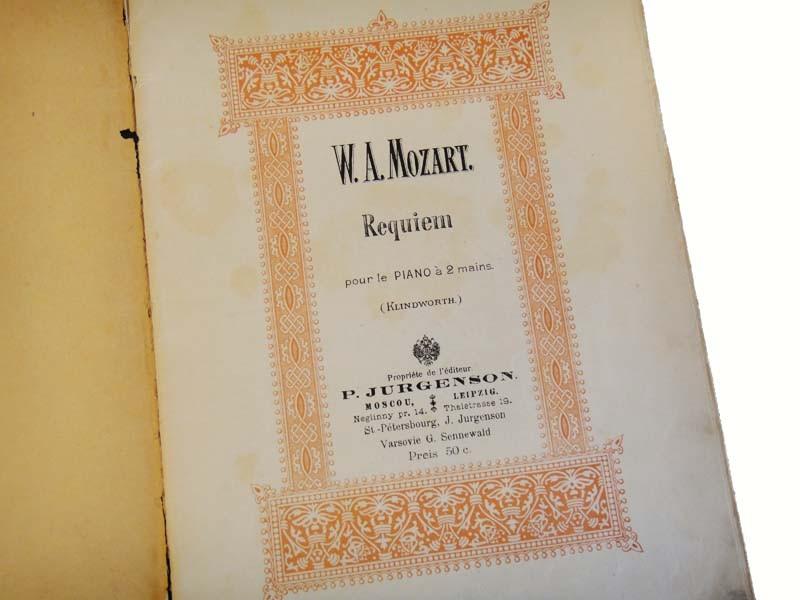 Моцарт - Реквием в издании Юргенсона