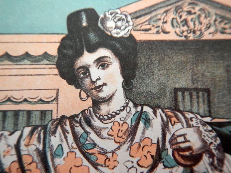 Испанка с кастаньетами — танцовщица болеро