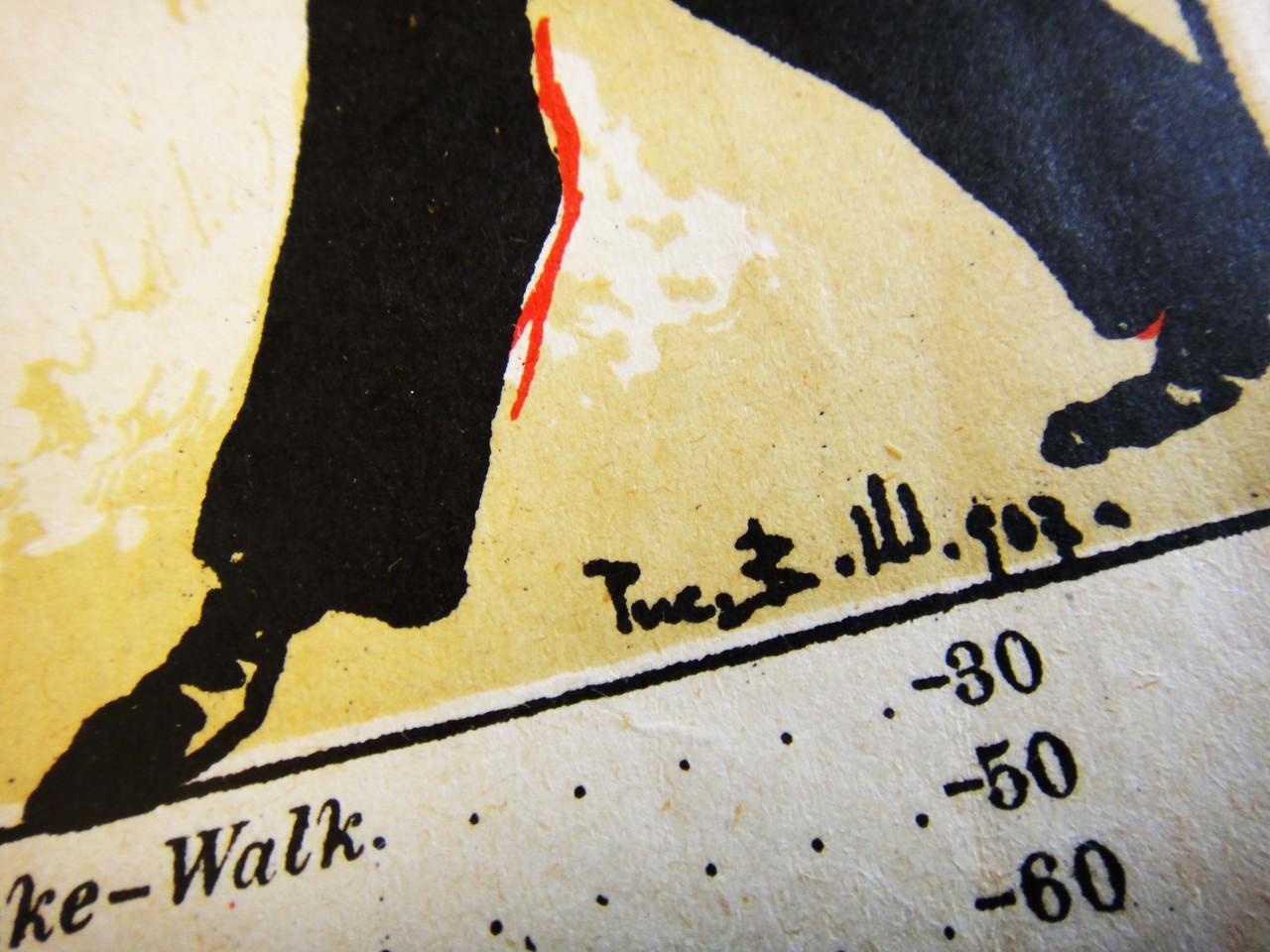 Подпись художника В. Ш., 1907 год.