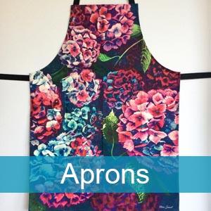 colourful art aprons