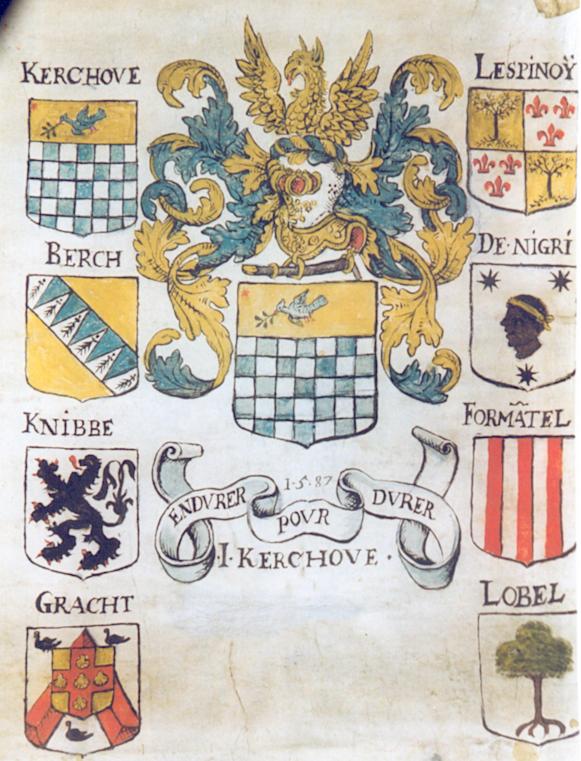 Tableau de quartier de Josse van den Kerchove (1587)