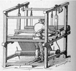 fabrication de drap par le métier à tisser