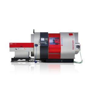 EMCO EmcoTurn E65 + Stangenlader / Steuerung: Siemens Sinumerik 828D mit ShopTurn Dialog-Programmierung