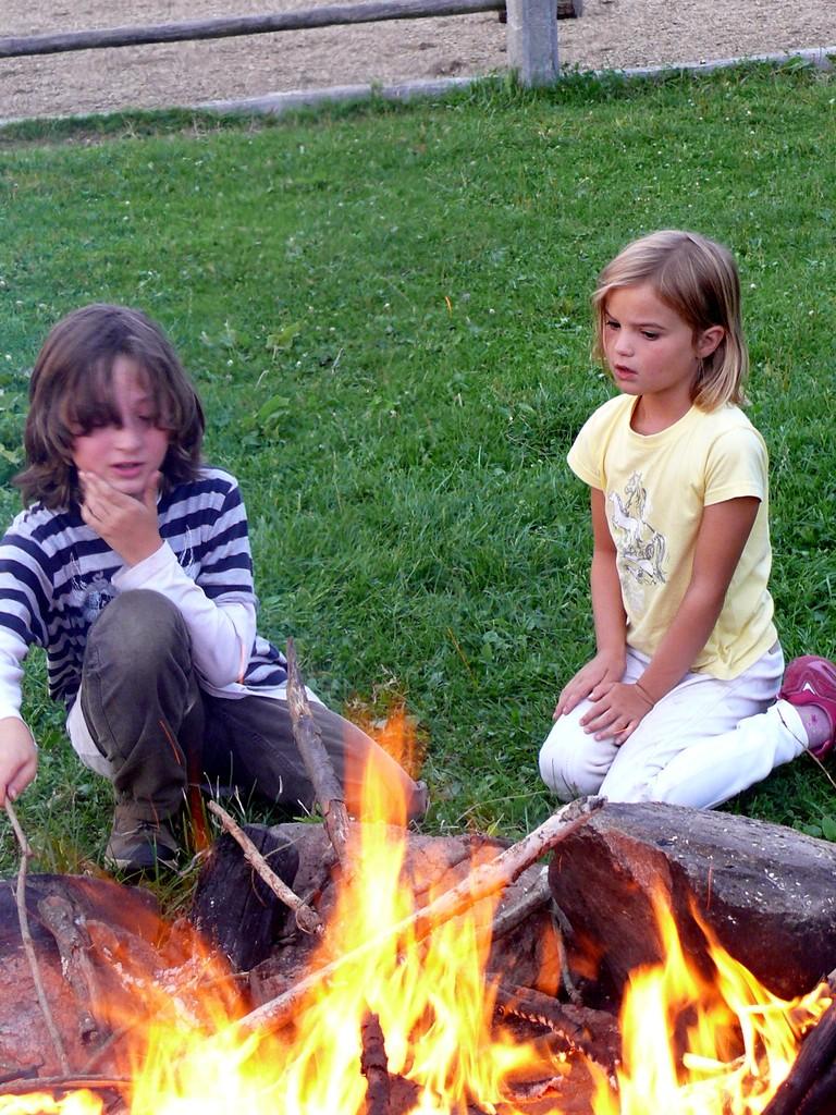 Lagerfeuer für die Gemütlichkeit