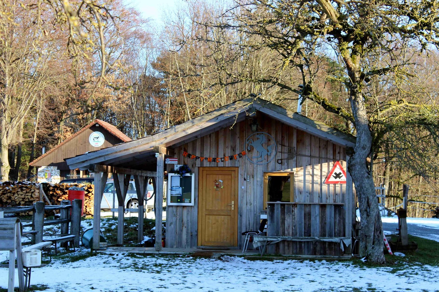 die Reiterhütte als beliebter Treffpunkt