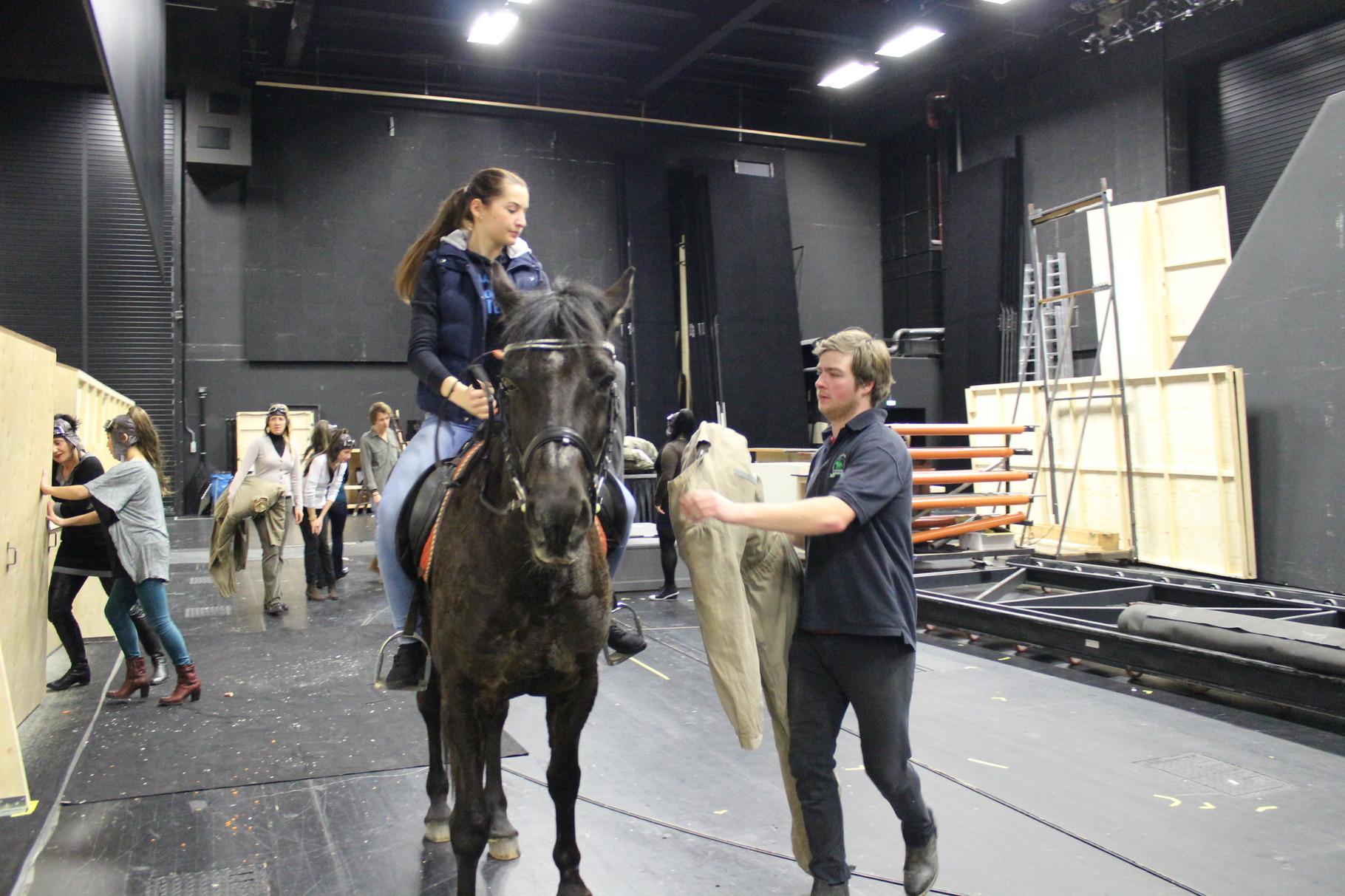 Die Utensilien für Sharkans Auftritt am Landestheater