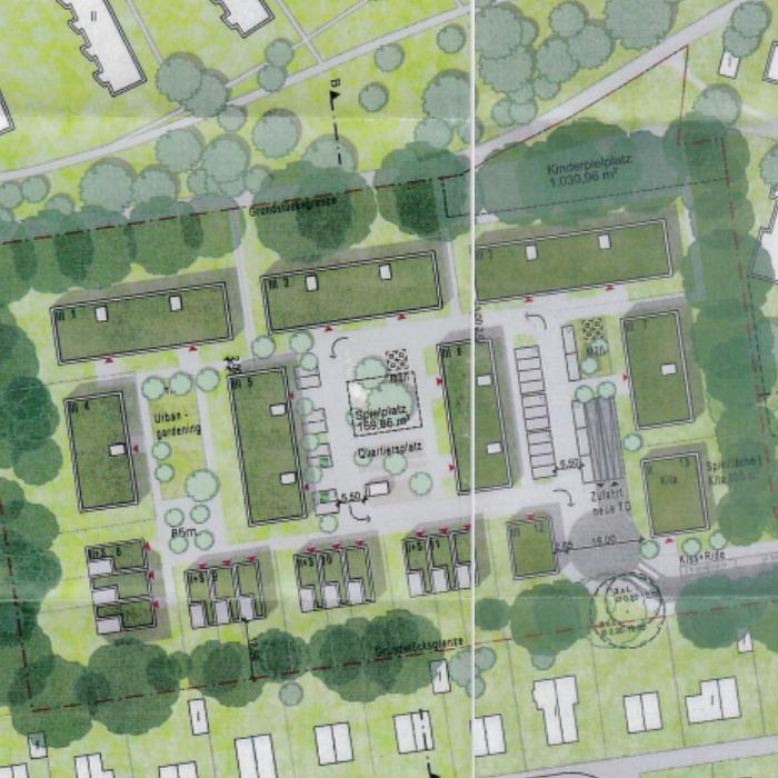 So sieht der Entwurf des neuen Wohnquartiers in der Anwohnerinformation aus