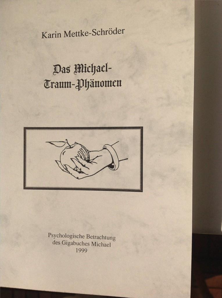 Karin Mettke-Schröder/Das Michael-Traum-Phänomen/Broschürefassung von 2003/Einband