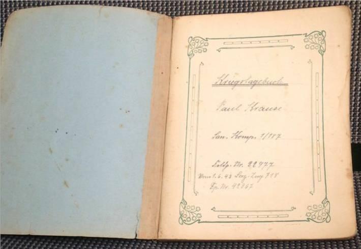 Paul Krause/Kriegstagebuch/Original von 1939/Deckblatt