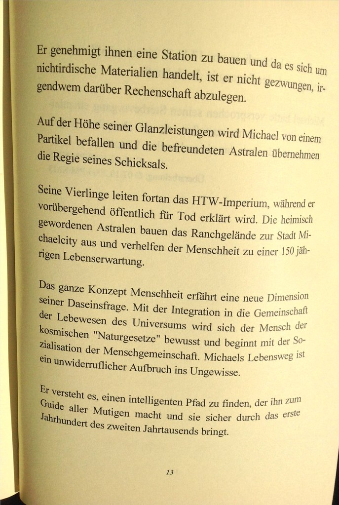 Karin Mettke-Schröder, Petra Mettke/Das Gigabuch Michael - Leseformat/Prospekt 1/2003/Seite 13