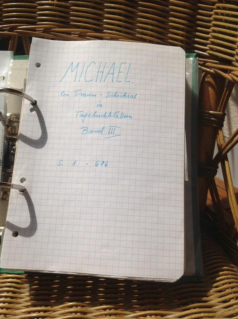 Petra Mettke/Gigabuch Michael 03/Originalordner/1993/Deckblatt