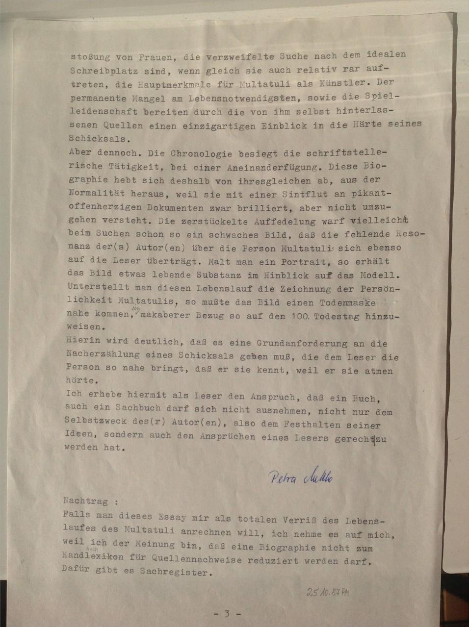 Karin Schröder und Petra Mettke/Multatuli-Essay von 1987/Seite 3