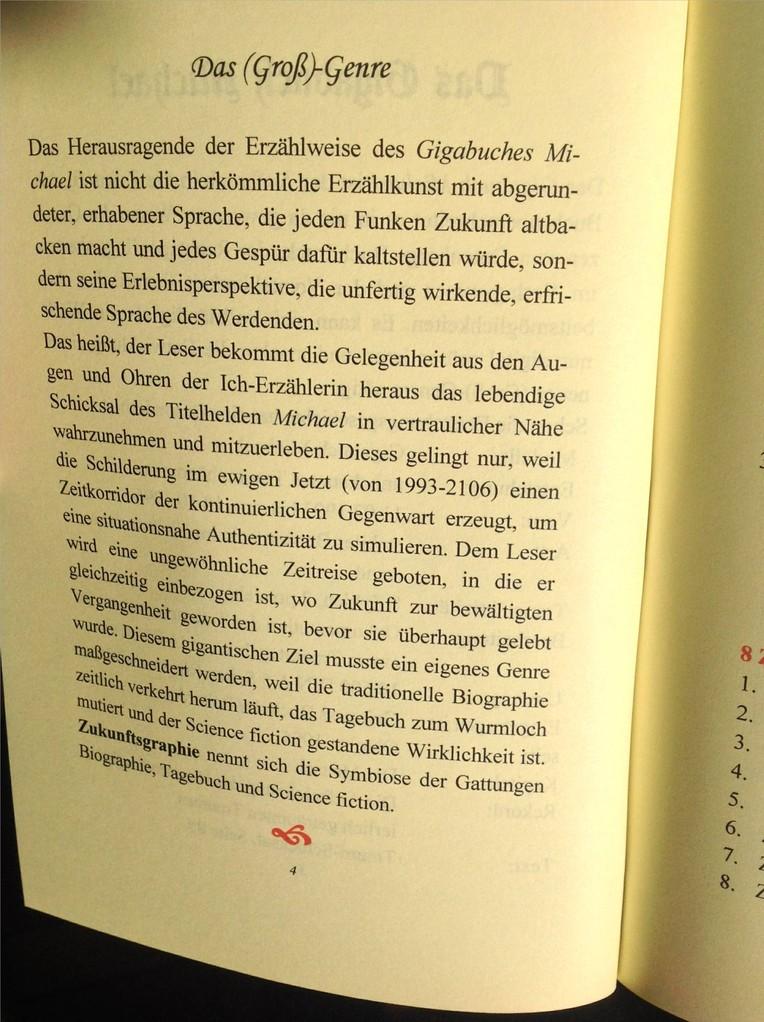 Karin Mettke-Schröder, Petra Mettke/Das Gigabuch Michael - Leseformat/Prospekt 1/2003/Seite 4