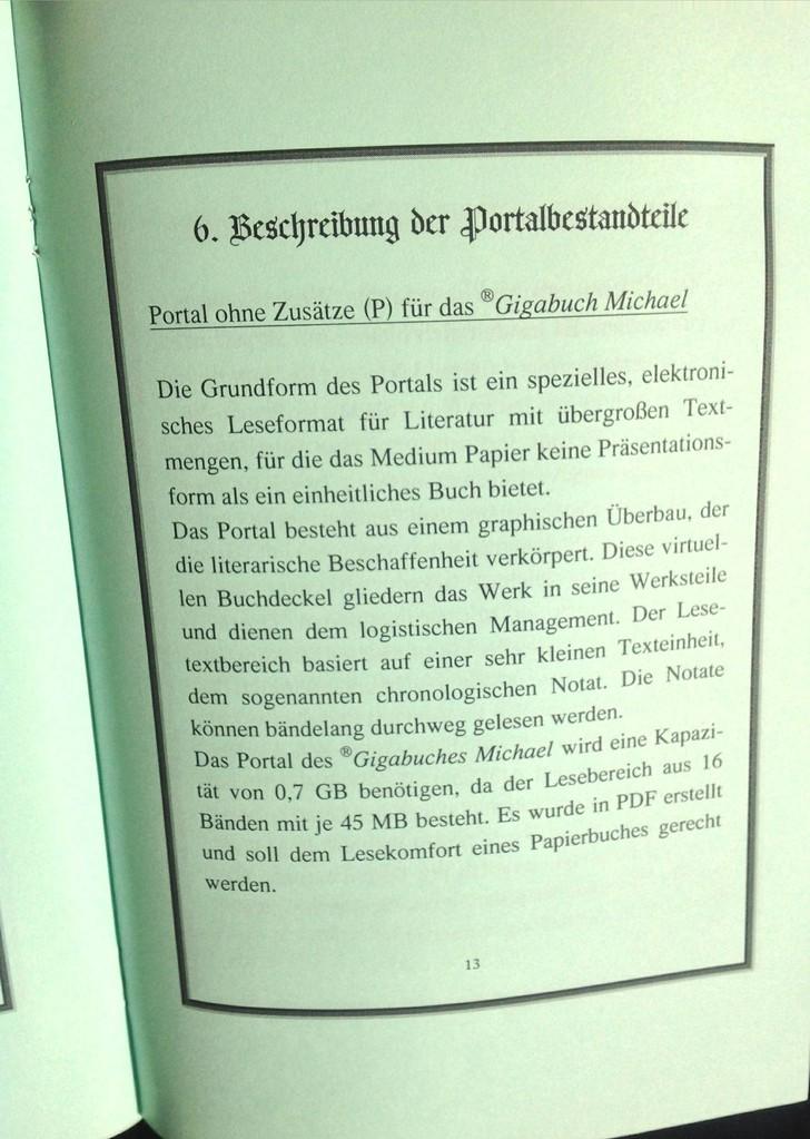 Karin Mettke-Schröder, Petra Mettke/Das Gigabuch Format/Prospekt 2/2003/Seite 13