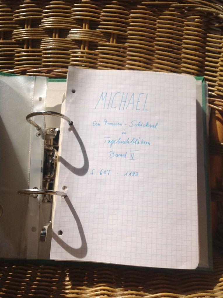 Petra Mettke/Gigabuch Michael 02/Originalordner/1993/Decklatt