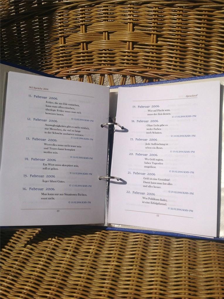 Karin Mettke-Schröder, Petra Mettke/Spruchreif/Spruchbandskript 1/2006/Seiten 10-11