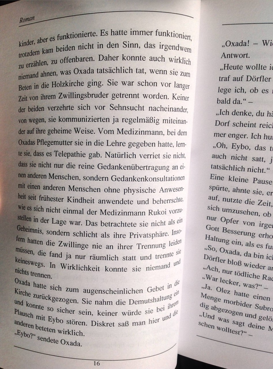 Karin Mettke-Schröder, Petra Mettke/Oxada und Eybo/Roman/Druckskript/2005/Seite 16