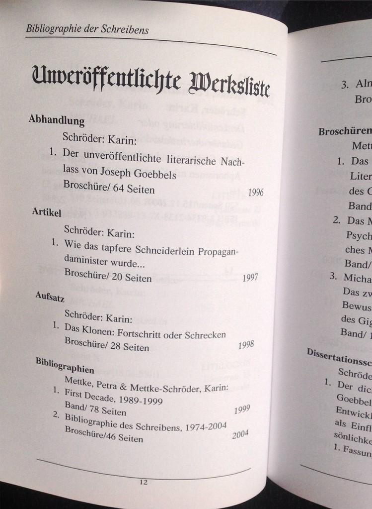 Petra Mettke, Karin Mettke-Schröder/Bibliographie Almanach/Broschürefassung/2005/Seite 12