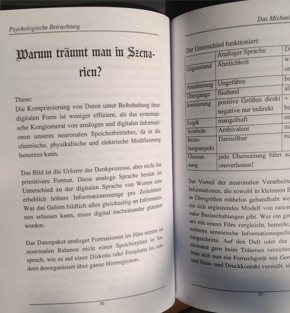 Karin Mettke-Schröder/Das Michael-Traum-Phänomen/Broschürefassung von 2003/Seite 36