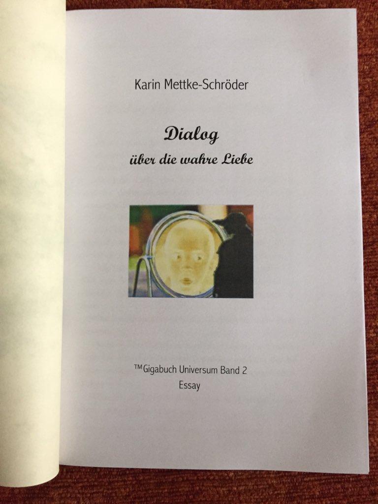 Karin Mettke-Schröder/Dialog über die wahre Liebe/™Gigabuch Universum Band 2/Deckblatt