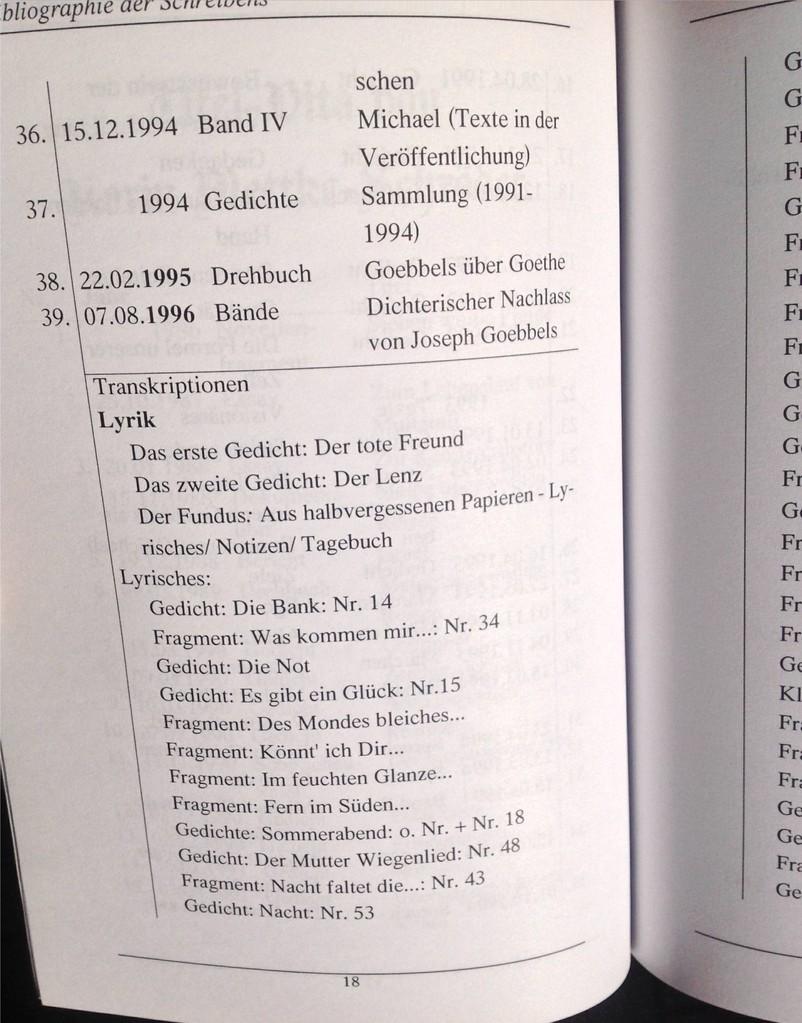 Petra Mettke, Karin Mettke-Schröder/Bibliographie des Schreibens/Broschürefassung/2004/Seite 18