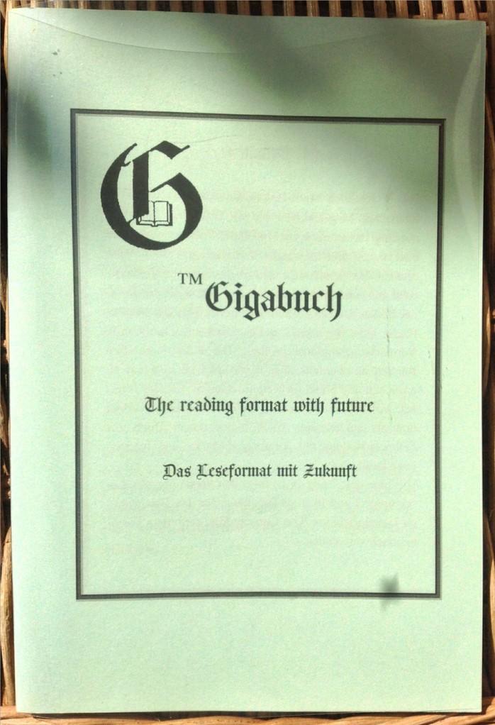 Karin Mettke-Schröder, Petra Mettke/Das Gigabuch Format/Prospekt 2/2003/Einband