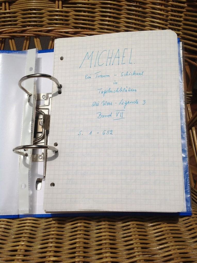 Petra Mettke/Gigabuch Michael 07/Originalordner/1994/Deckblatt