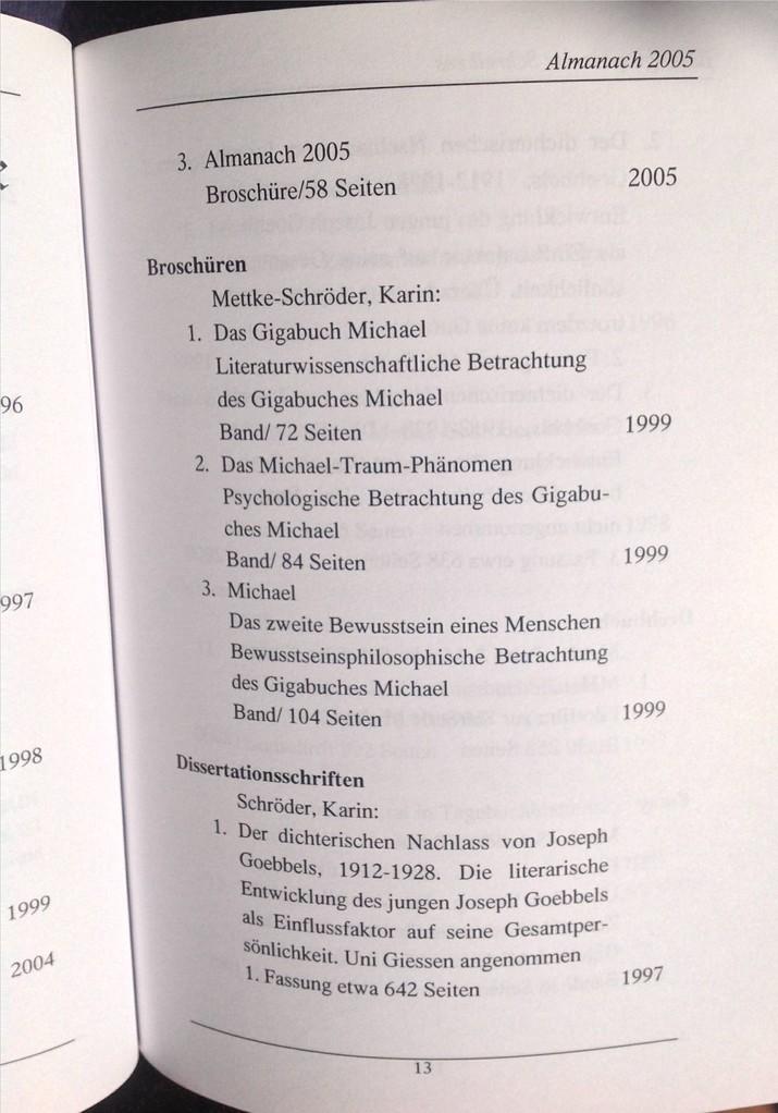 Petra Mettke, Karin Mettke-Schröder/Bibliographie Almanach/Broschürefassung/2005/Seite 13