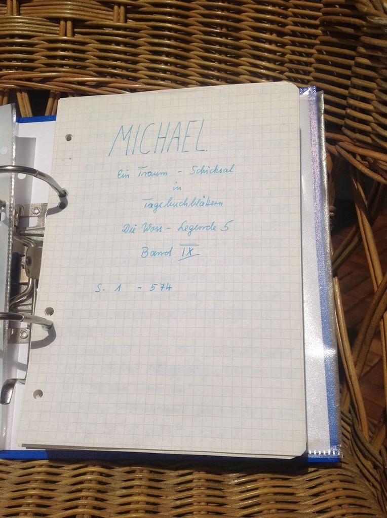 Petra Mettke/Gigabuch Michael 09/Originalordner/1995/Deckblatt