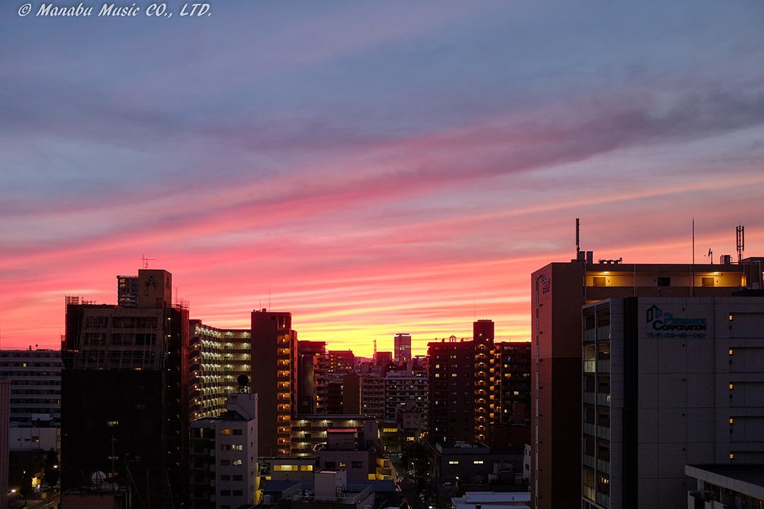 名古屋市鶴舞の夕景 X100T