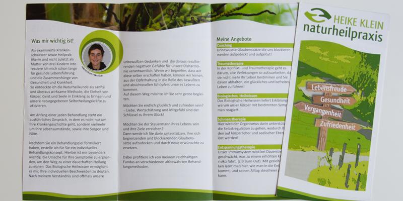 Faltblatt/Flyer/Naturheilpraxis in Moers